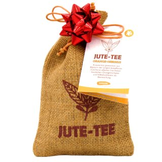 Jute-Tee Orange-Hibiskus Sonderedition